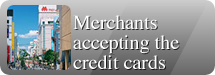 Merchants accepting the credit cards